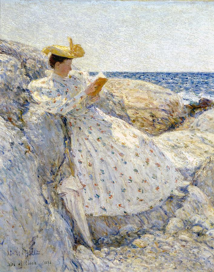 Read Painting - Summer Sunlight by Childe Hassam