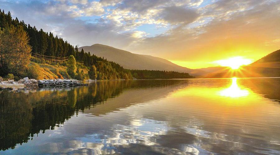 Sunrise Photograph - Summer Sunrise by Joy McAdams