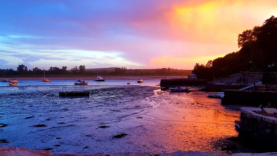 Summer Sunset At Low Tide Photograph by Harriet Harding
