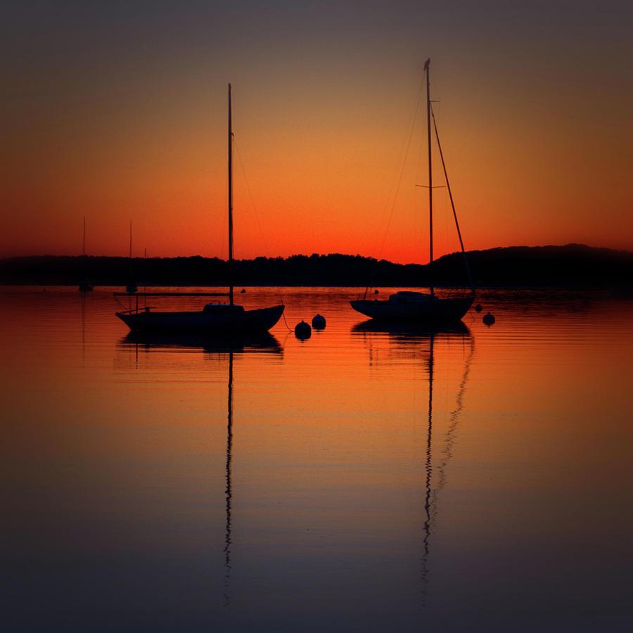 Summer Sunset Calm Anchor by Bruce Gannon