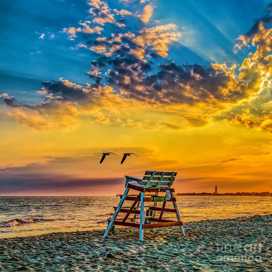 Summer Photograph - Summer Sunset On The Beach by Nick Zelinsky