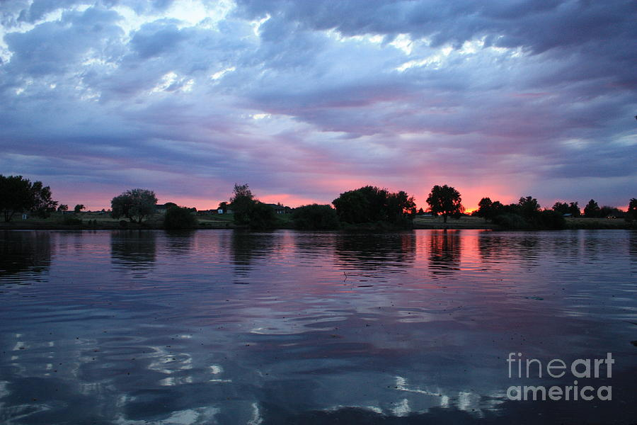 Sunset Photograph - Summer Sunset On Yakima River 4 by Carol Groenen