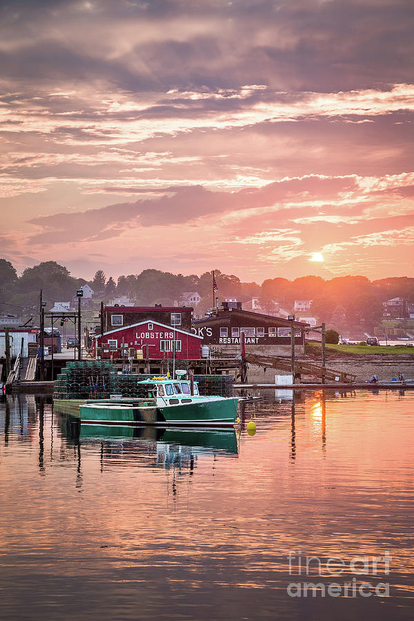Attraction Photograph - Summer Sunset over Cooks Lobster by Benjamin Williamson