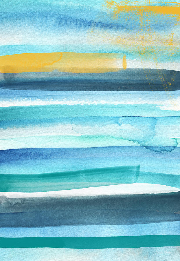 Beach Mixed Media - Summer Surf 2- Art By Linda Woods by Linda Woods
