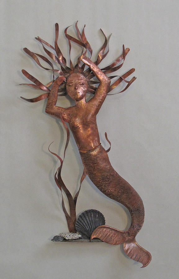 Mermaid Sculpture - Summer Swim II by Lynn Wartski