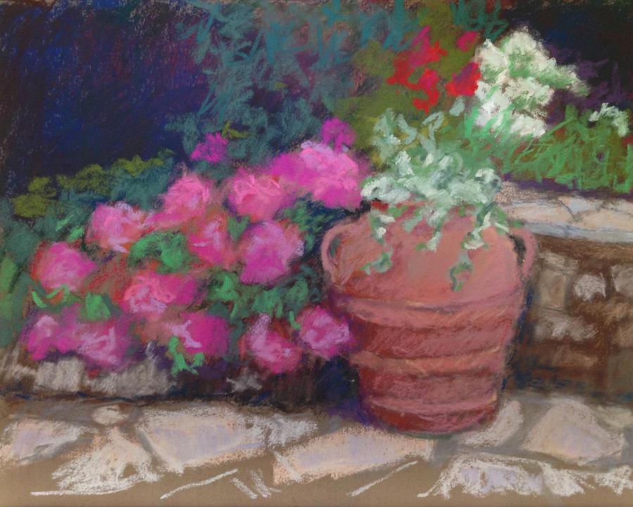 Hydrangeas Painting - Summer Terrace by Marion Corbin Mayer