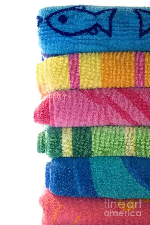 Beach Towel Photograph - Summer Time 1 by Jeannie Burleson