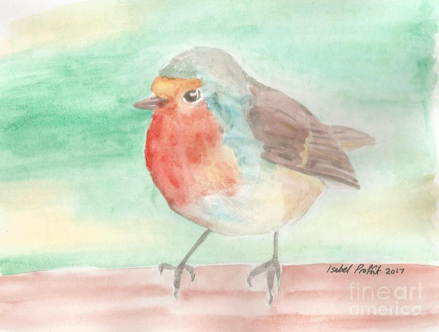 Robin Painting - Summer Time Robin by Isabel Proffit