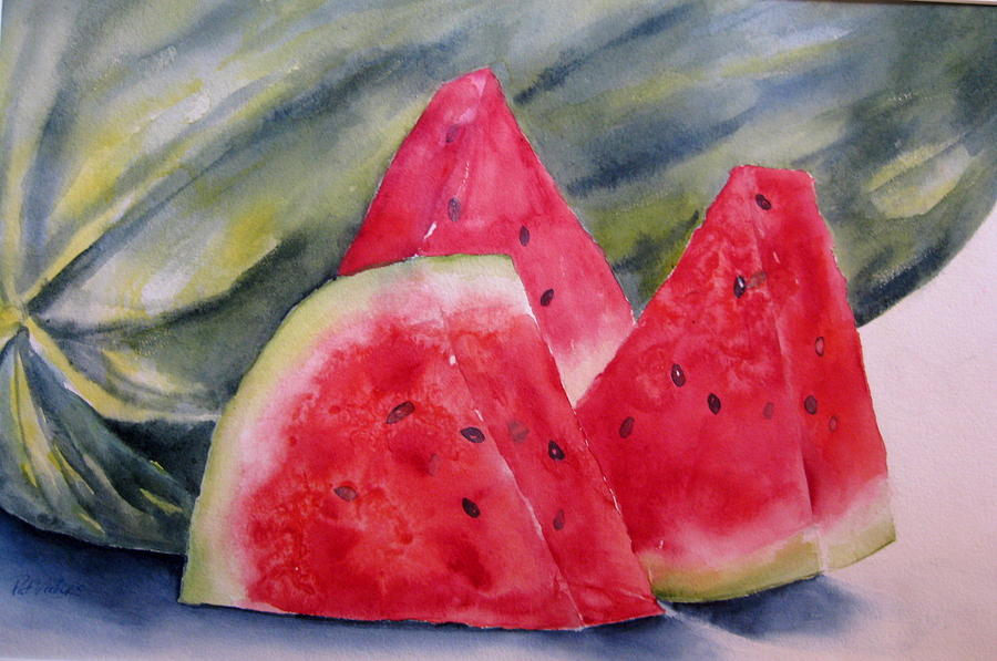 Summer Treat Painting by Pat Vickers