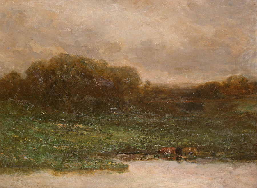 Edward Mitchell Bannister Painting - Summer Twilight by Edward Mitchell Bannister