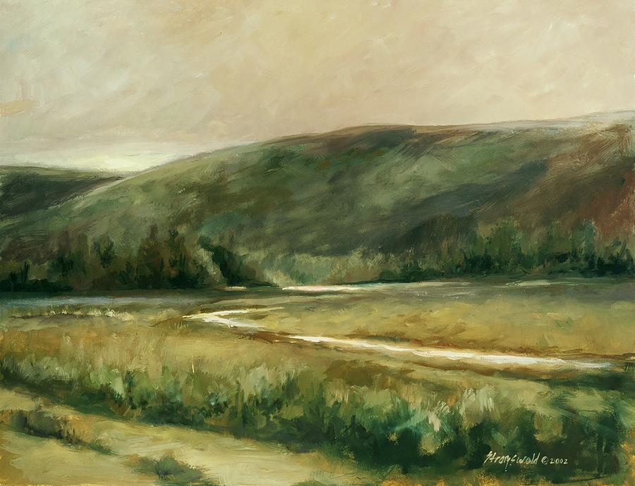 Landscape Painting - Summer Twilight by Ruth Stromswold