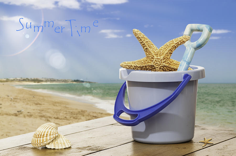 Bucket Photograph - Summer Vacation by Amanda Elwell