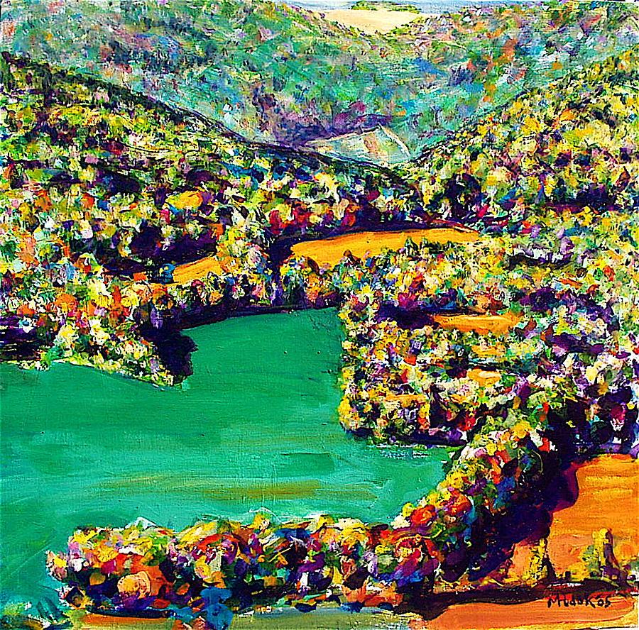 Landscape Painting - Summer View Merrel Creek Dam by Michael Hudak