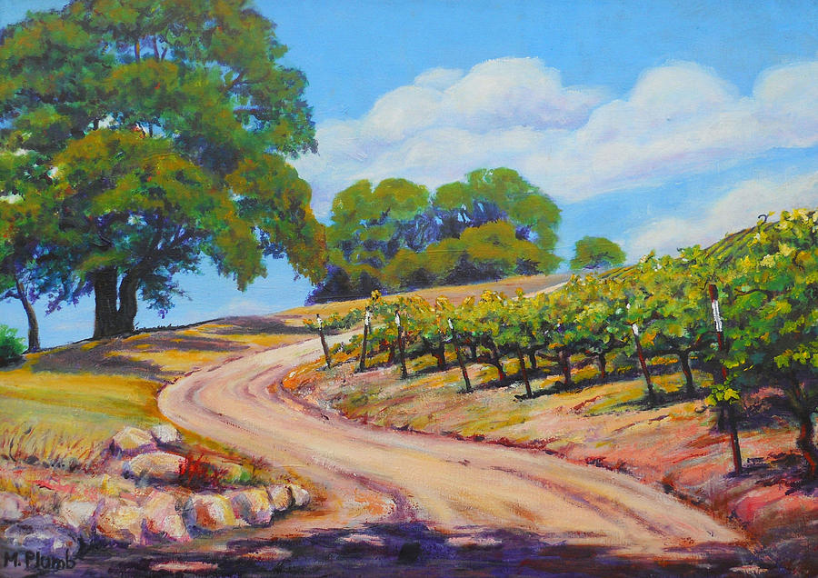 Vineyards Painting - Summer Walk by Margaret  Plumb
