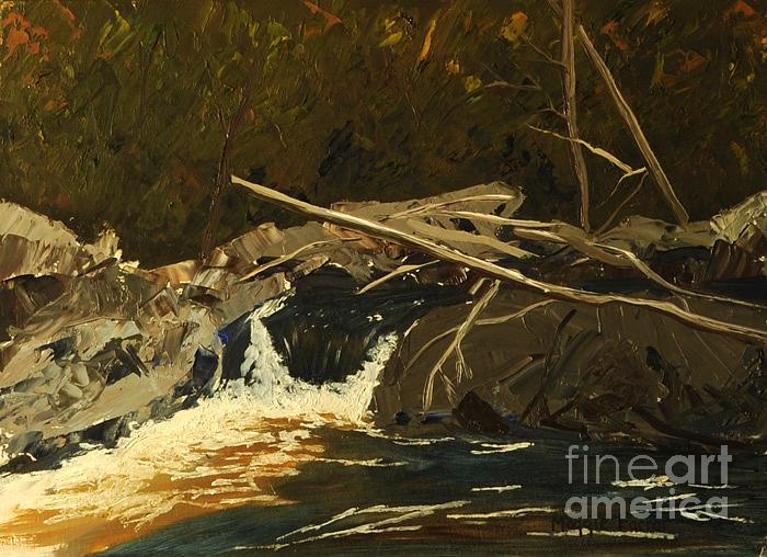Waterfall Painting - Summer Waterfall by Margaret Farrar