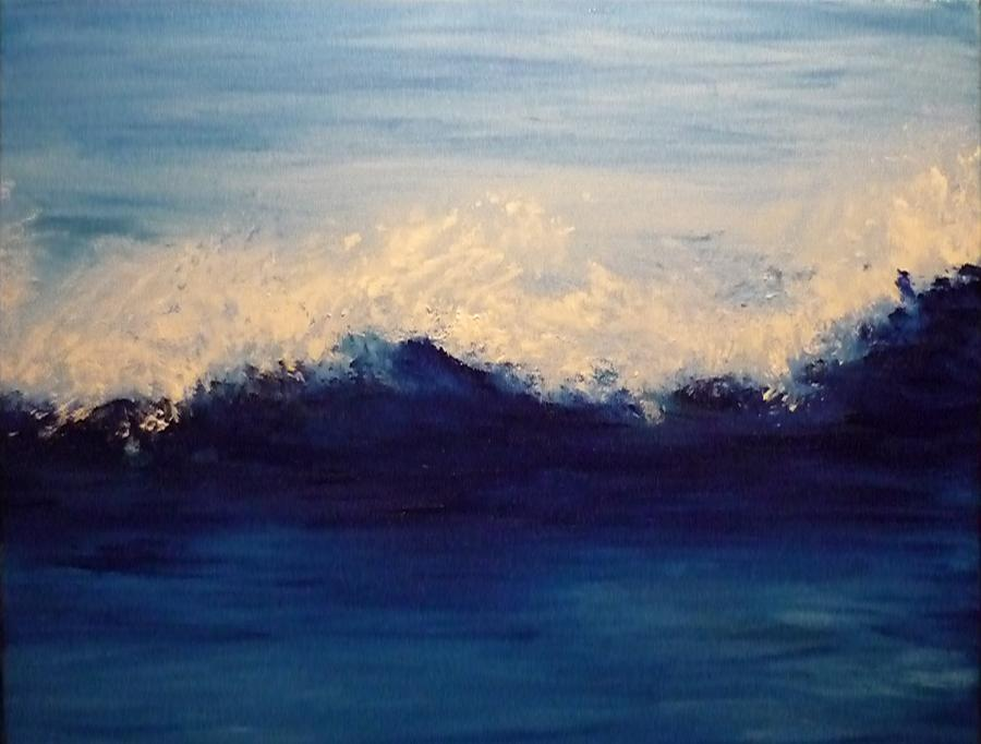 Summer Wave Painting by Lizzy Forrester