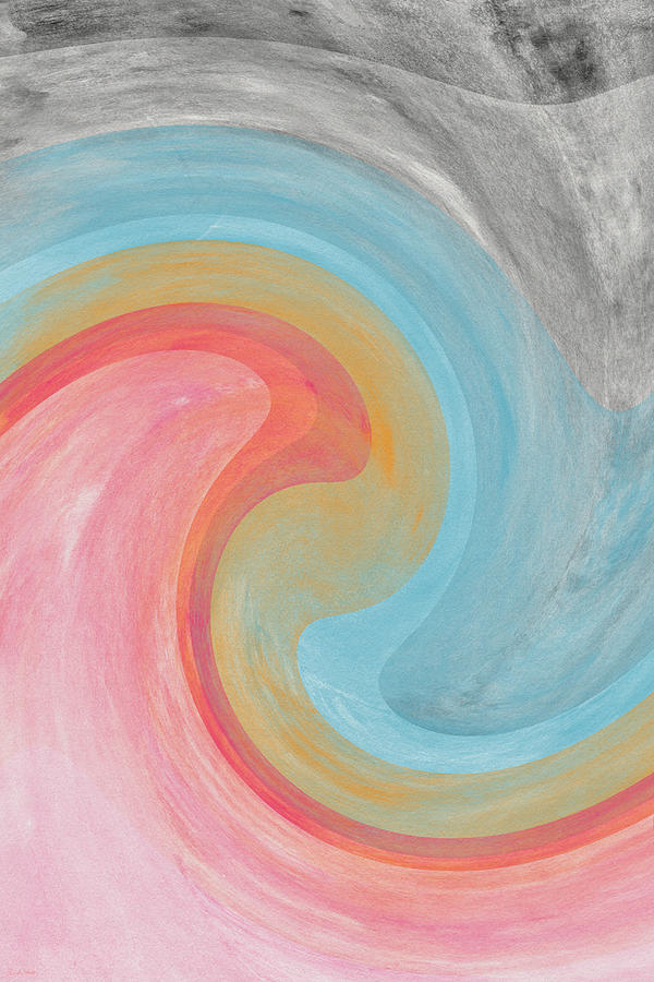 Summer Waves- Abstract Art By Linda Woods Painting