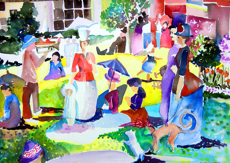 George Painting - Summer With In The Park With George by Mindy Newman