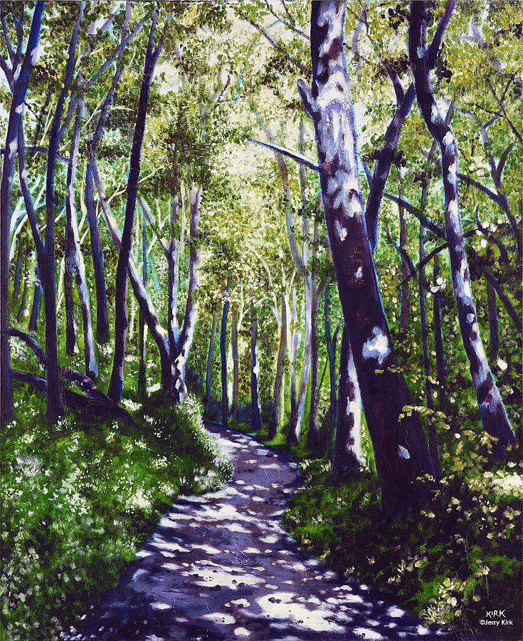 Painting Painting - Summer Woods by Jerry Kirk
