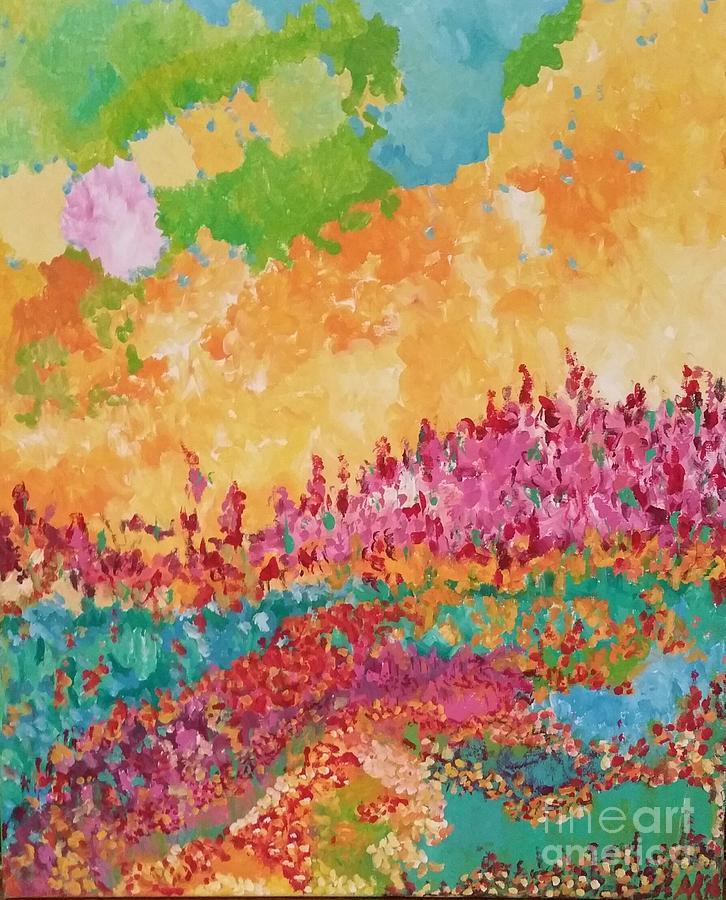 Nature Painting - Summergarden by Anneke Hietbrink