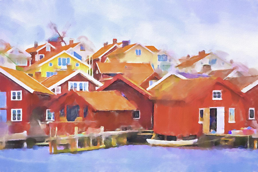 Seaside Painting - Summerlife Sweden by Lutz Baar