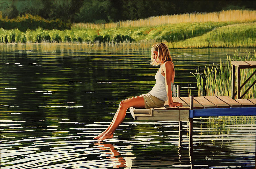 Oil Painting - Summers Beauty by Eric Renner