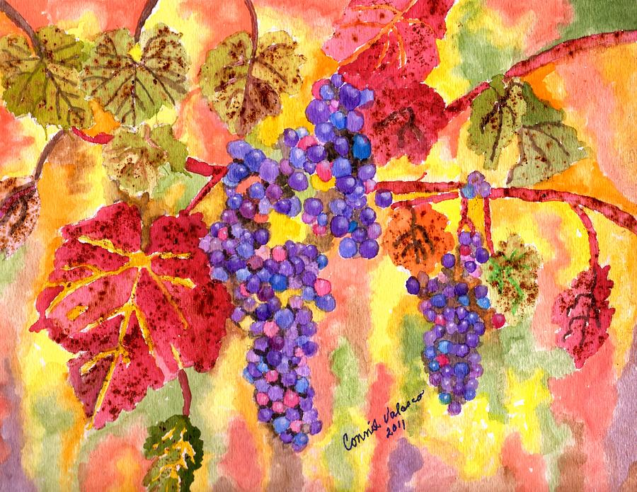 Grape Vine Painting - Summers Fullest by Connie Valasco