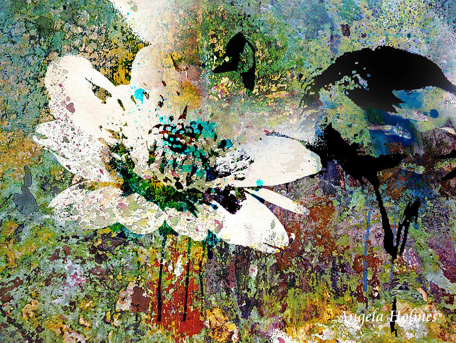 Digital Mixed Media - Summers Garden by Angela Holmes
