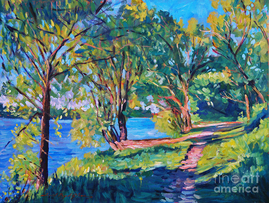 Landscape Painting - Summers Lake by David Lloyd Glover