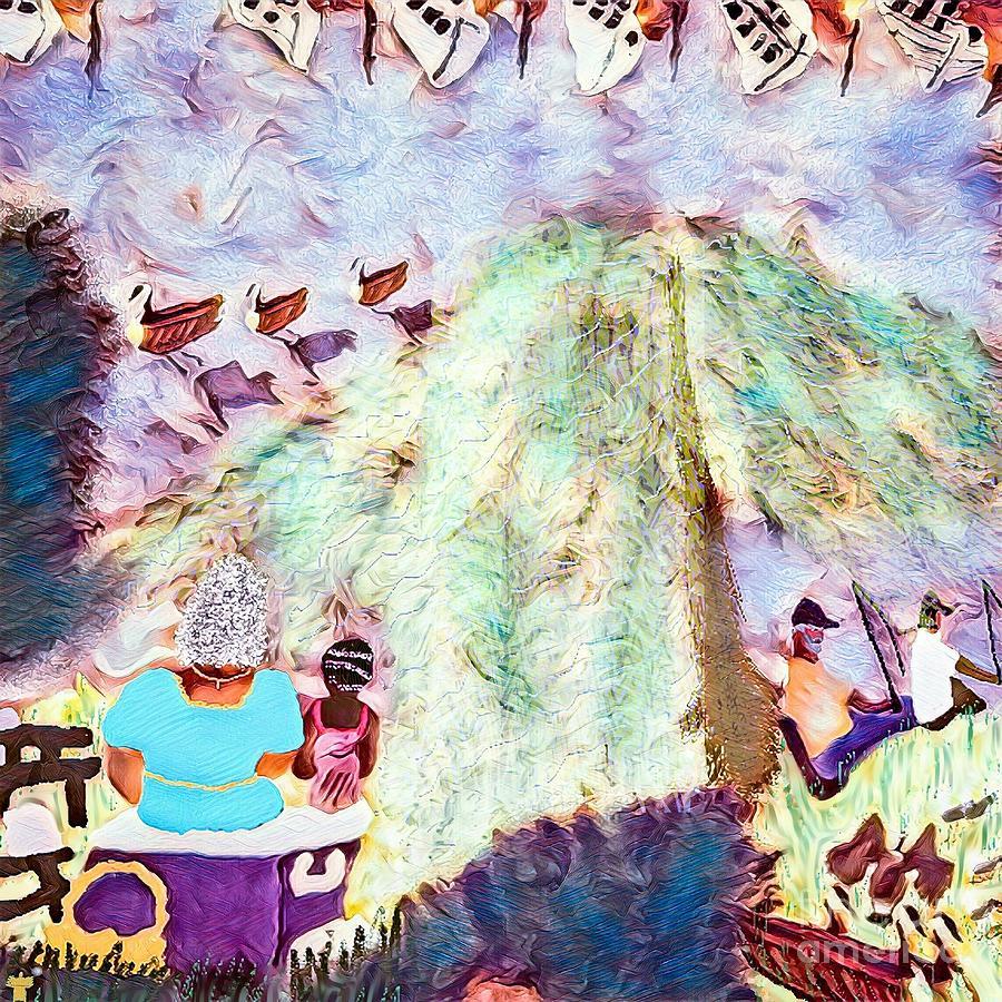 Grandparents Digital Art - Summers On The Anacostia  by Dorian Hamilton