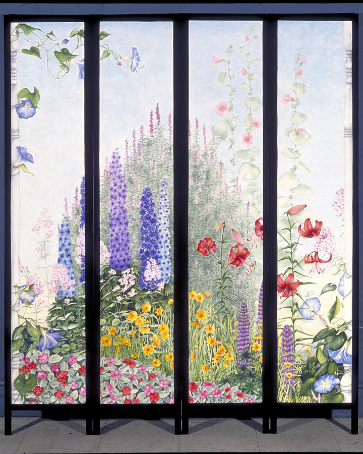 Garden Painting - Summerscreen by Nancy  Ethiel