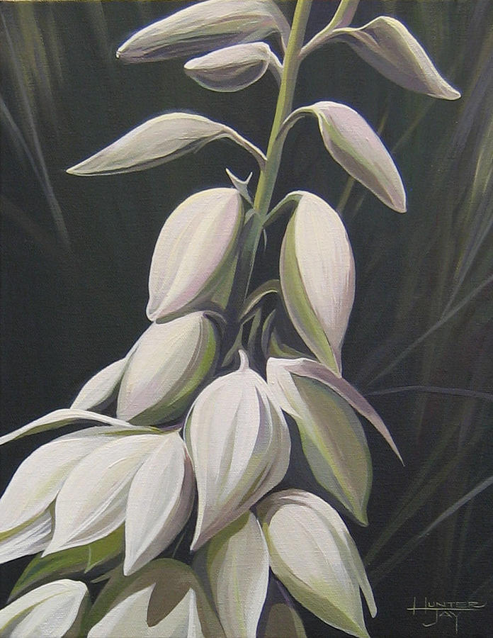 Yucca Plant Painting - Summersilver by Hunter Jay