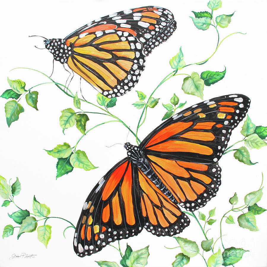 Butterfly Painting - Summertime Butterflies B by Jean Plout