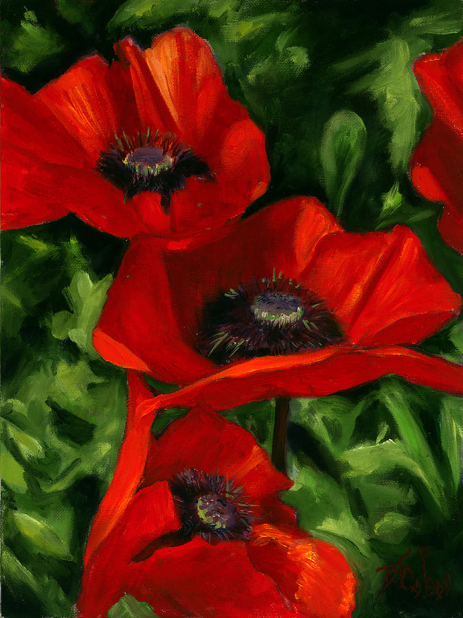 Poppy Painting - Summertime Festival by Billie Colson