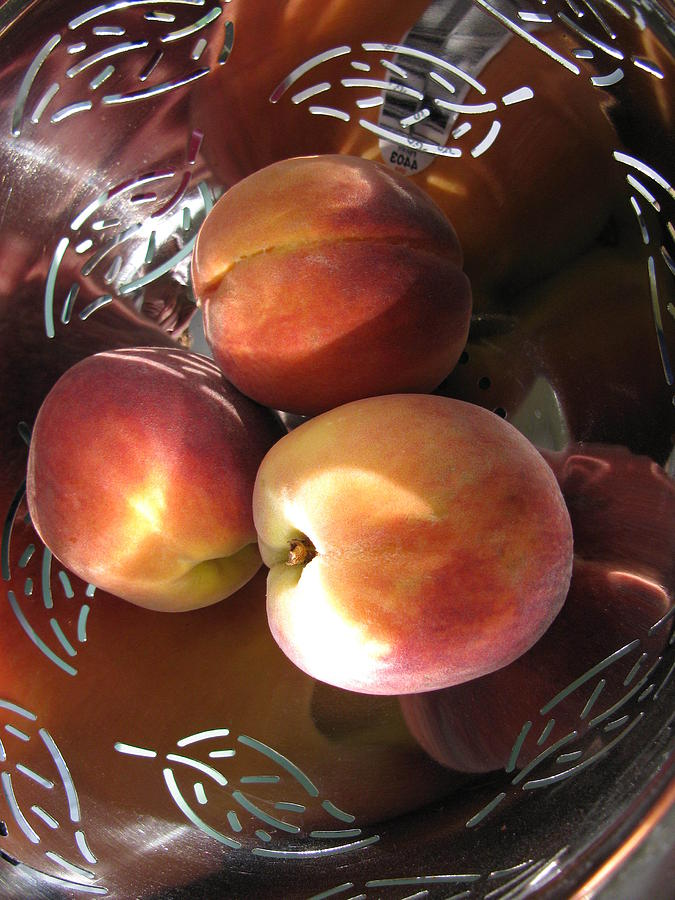 Peachy Photograph - Summertime Fruit by Lindie Racz