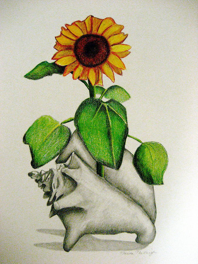 Sunflower Mixed Media - Summertime by Marita McVeigh