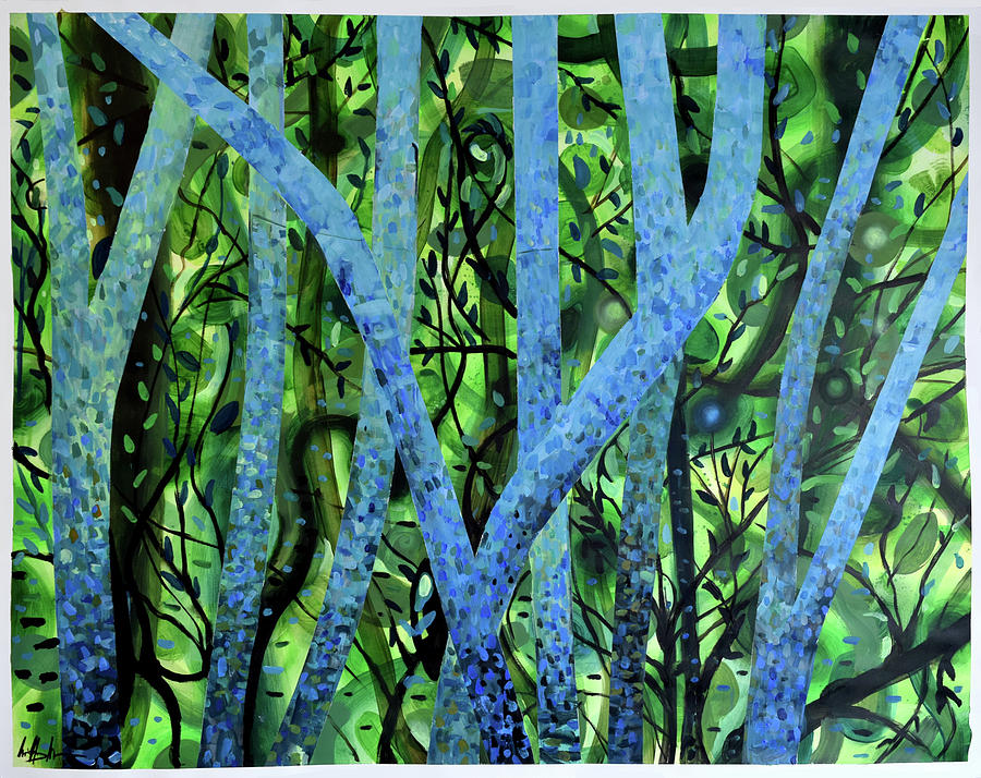 Paper Painting - Summertree Fantasia by Geoff Greene