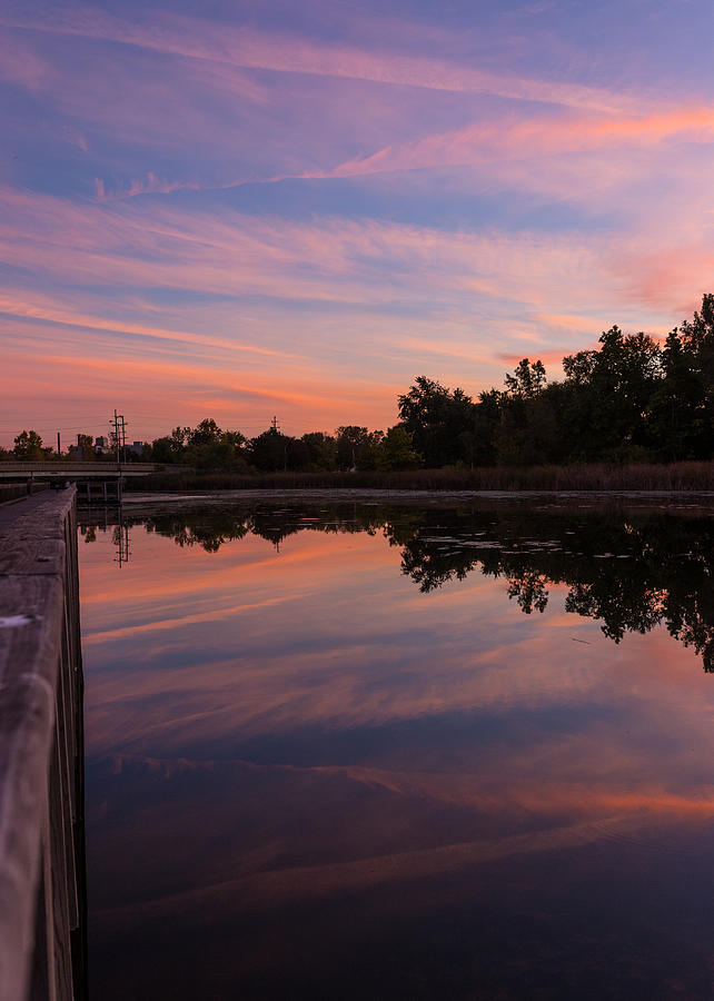 Summit Lake Photograph - Summit Lake Reflected Sunset   by Tim Fitzwater