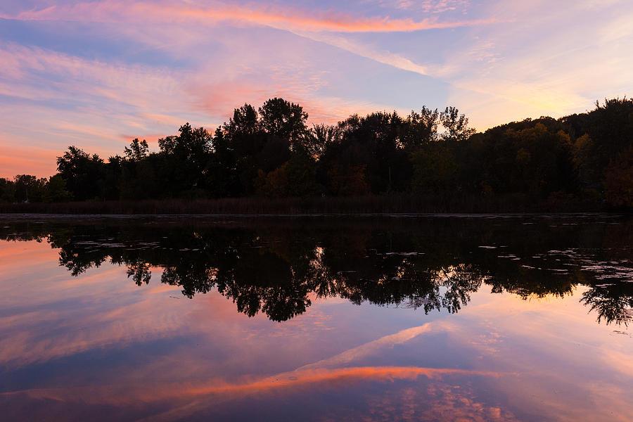 Summit Lake Photograph - Summit Lake Sunset I  by Tim Fitzwater