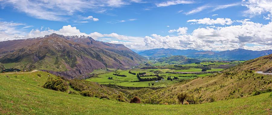 Joan Carroll Photograph - Summit View New Zealand II by Joan Carroll