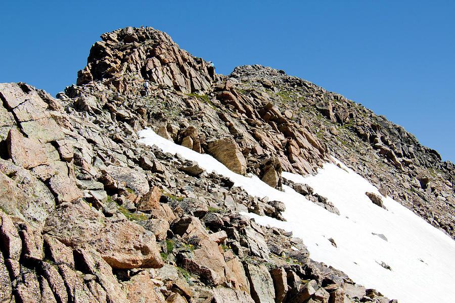 Summiting The Mount Massive Summit Photograph