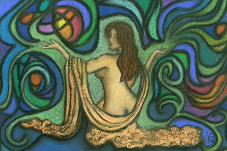 Portrait Painting - Summoning Brigit by Natalie Roberts