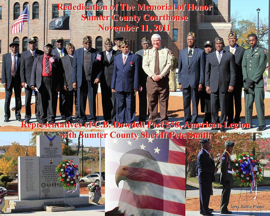 Sumter County Photograph - Sumter County Memorial Of Honor by Jerry Battle