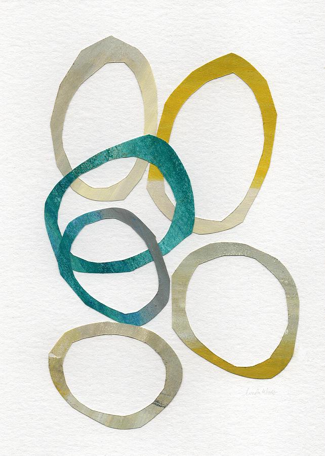 Circles Mixed Media - Sun and Sky- abstract art by Linda Woods