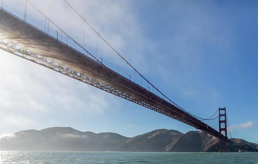 Golden Gate Bridge Photograph - Sun Beams Through The Golden Gate by Scott Campbell