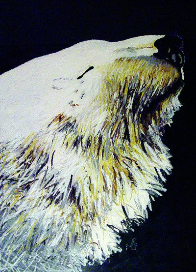 Polar Bear Painting - Sun Bear by Brenda Wolf