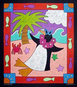 Sun Bird Painting by Nancy  Coffelt