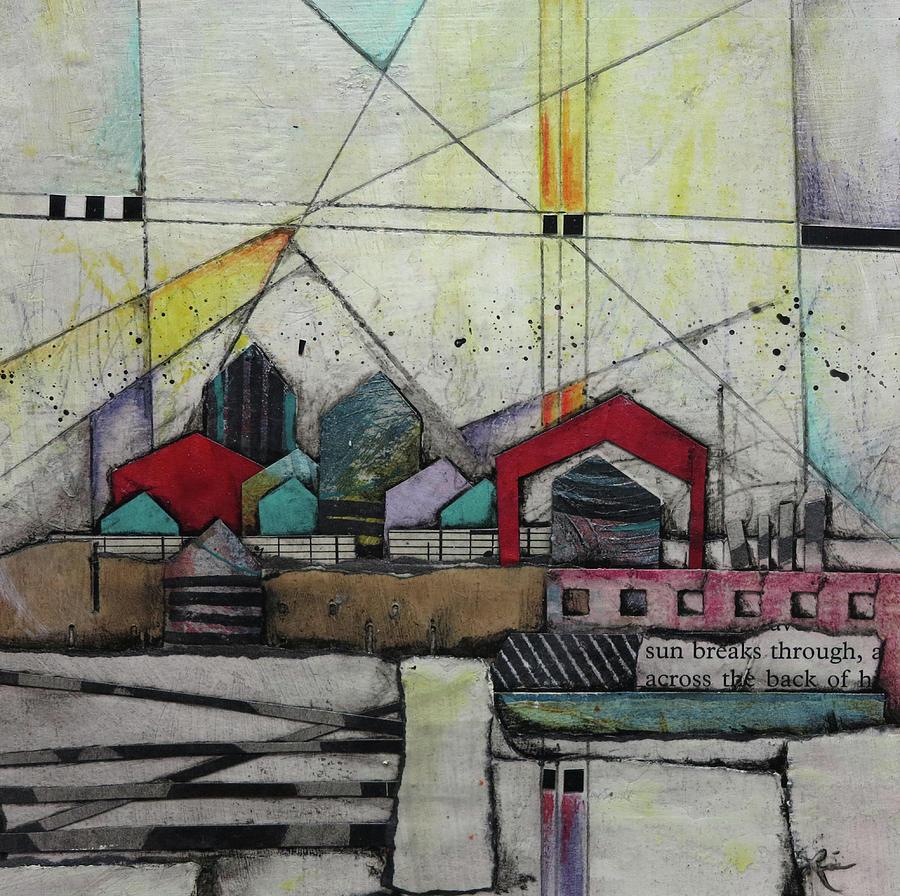 Collage Mixed Media - Sun Breaks Through  by Laura Lein-Svencner