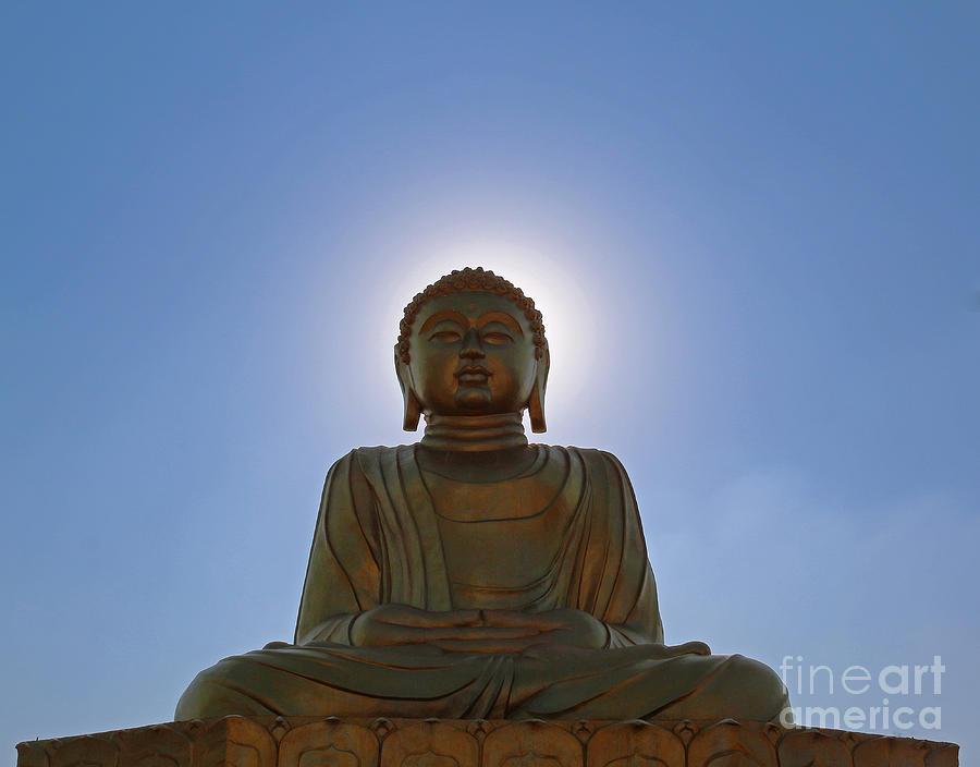Buddha Photograph - Sun Buddha by Jane McGowan