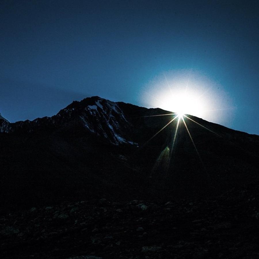 Burst Photograph - Sun Burst Over Zanskar Valley by Aleck Cartwright